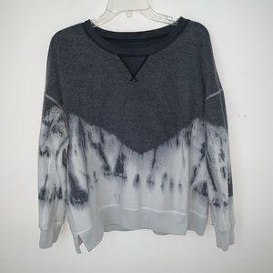 American Eagle Gray Tie Dye Crew Neck Sweatshirt